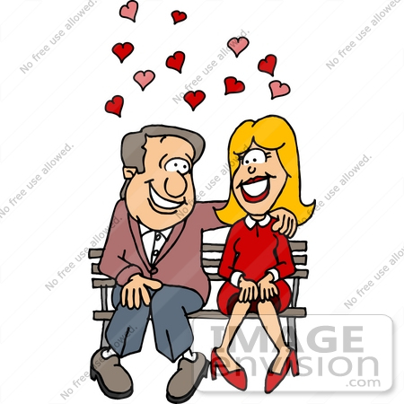 Free Clip Art Falling in Love.