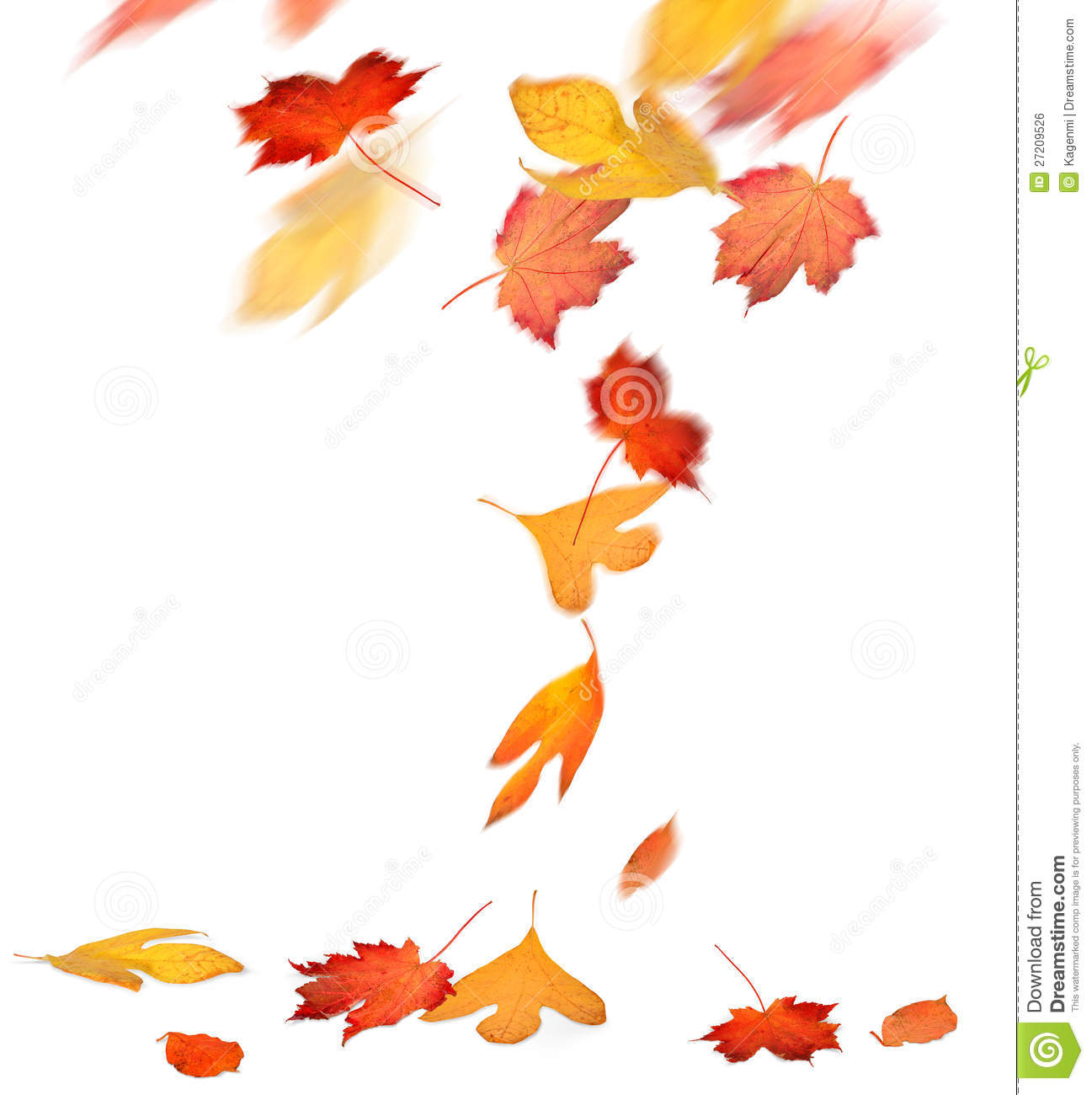 Fall Leaves Blowing Clipart.