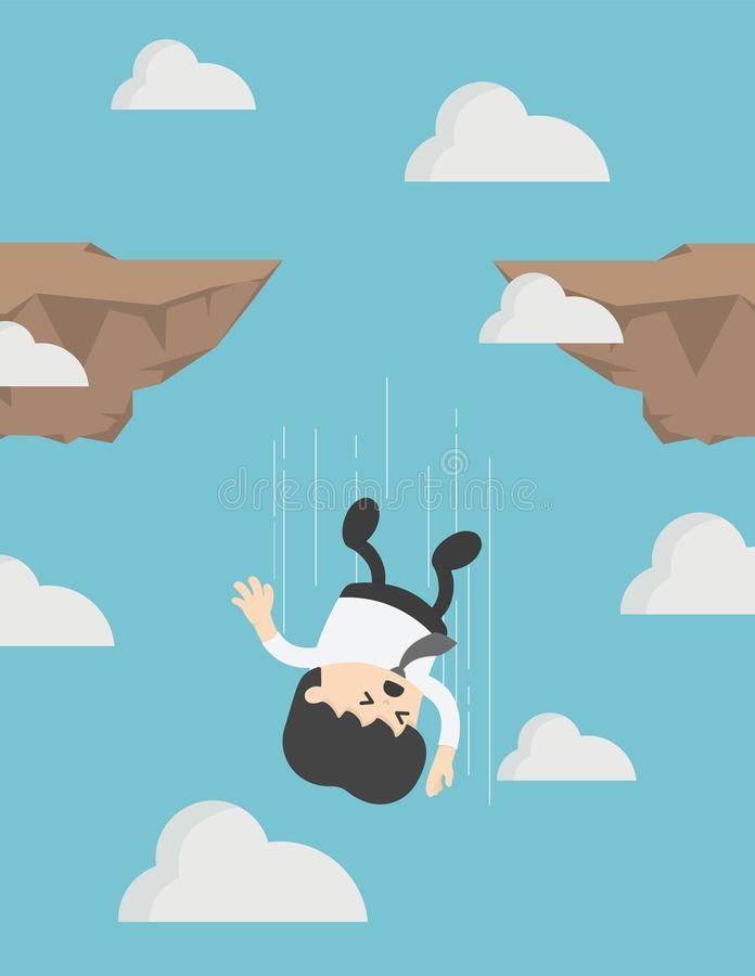 Man Falling Off Cliff Stock Illustrations.