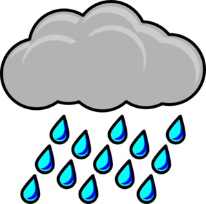 Falling Rain Clipart.