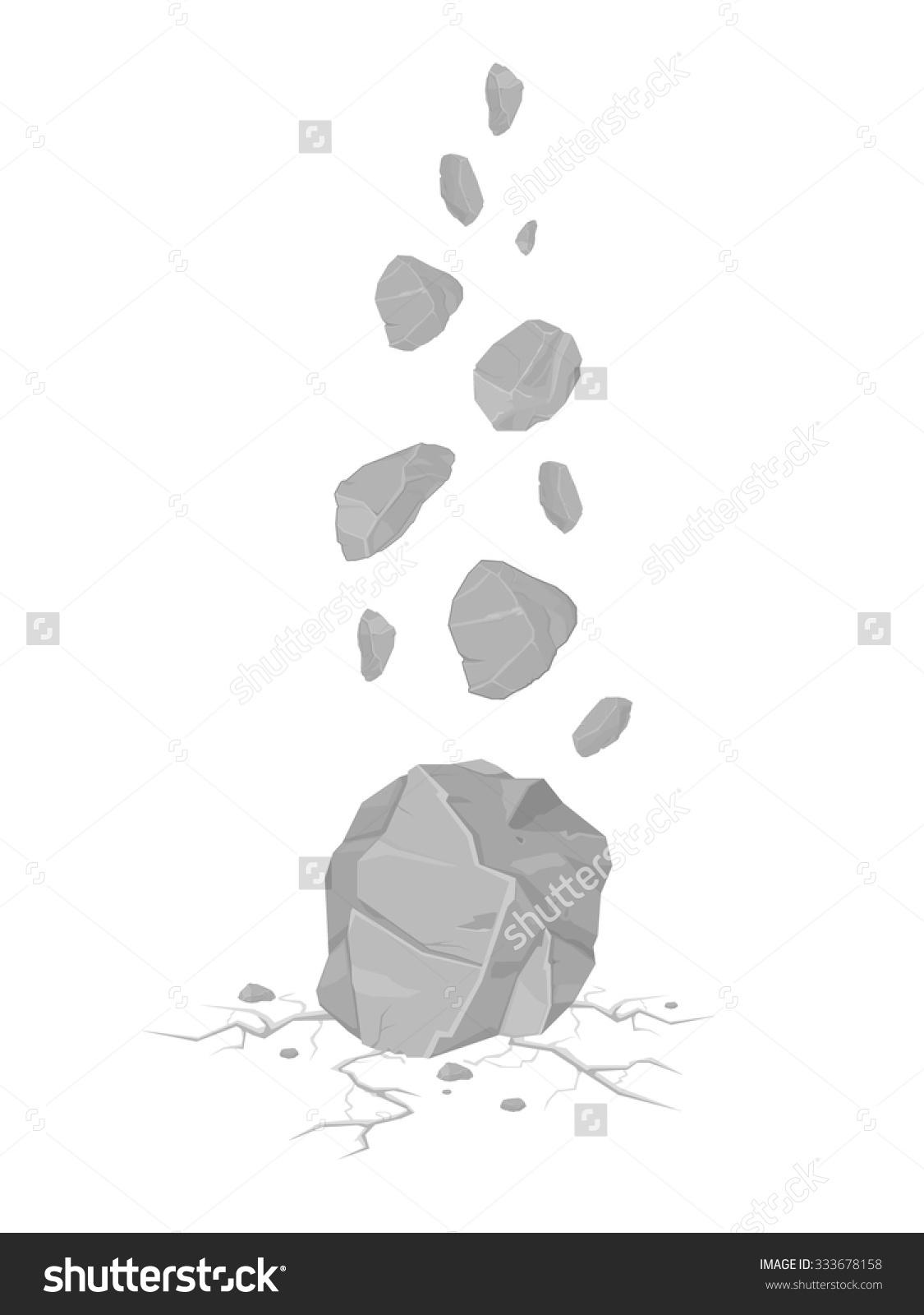 Falling rock clipart gif.