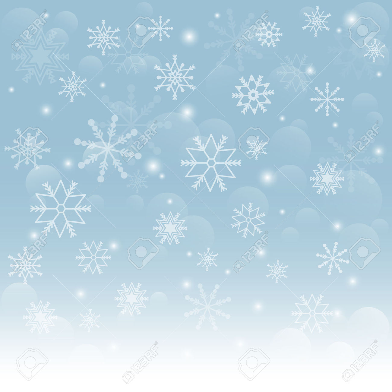 Falling snow background clipart.