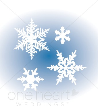 Falling Snowflakes Clipart.