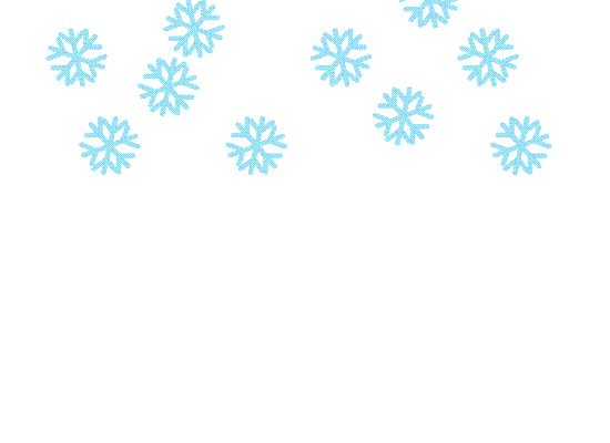Falling snow clipart #12