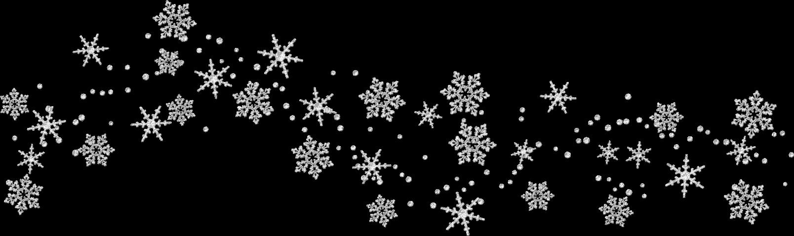 Transparent Snowflakes Clipart.