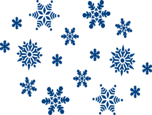 Blue Snowflakes Clip Art at Clker.com.
