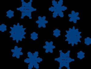 Blue Snowflakes Clip Art at Clker.com.