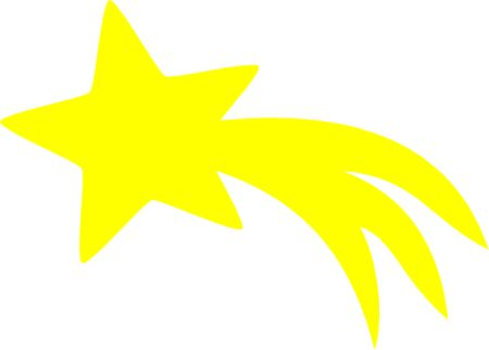 Falling star images in red clipart.