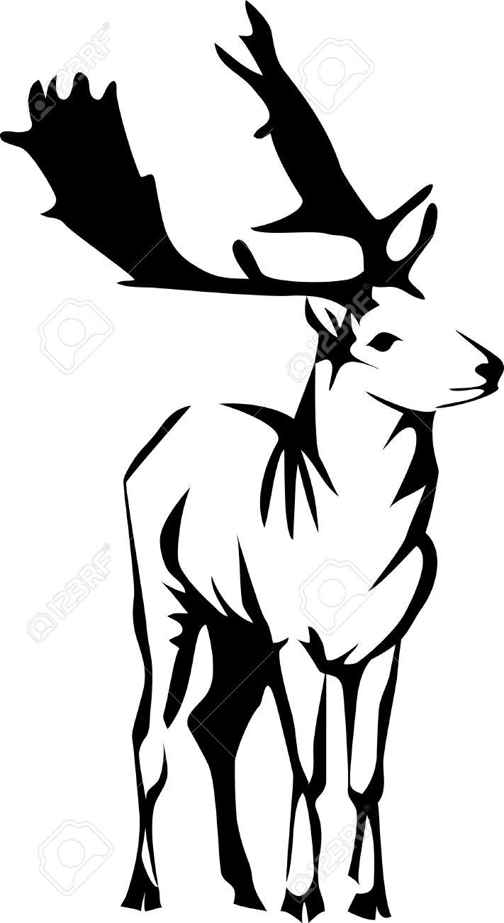 Fallow Deer Logo Royalty Free Cliparts, Vectors, And Stock.