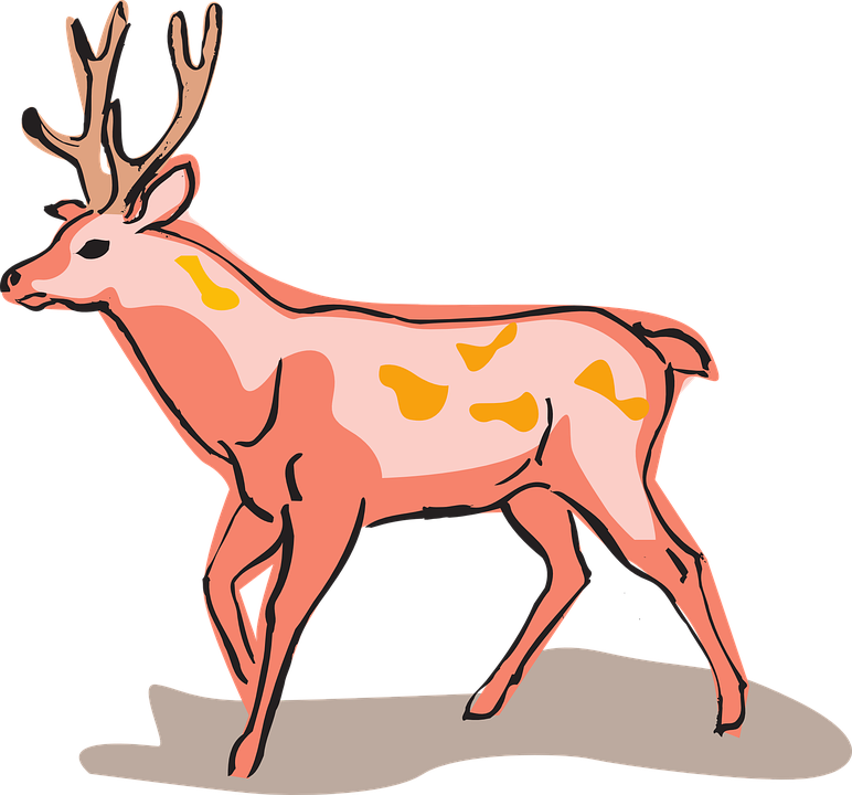 Free vector graphic: Red, Deer, Style, Wild, Animal.