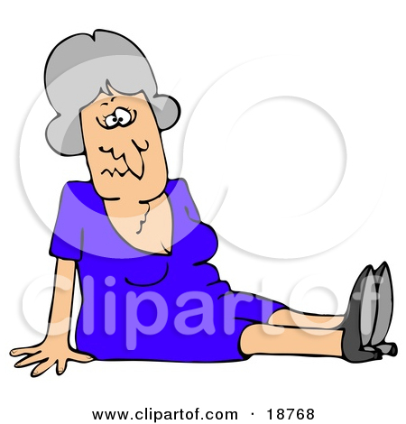 Elderly Fall Prevention Clipart.