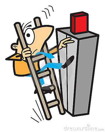 Clipart falling off ladder.