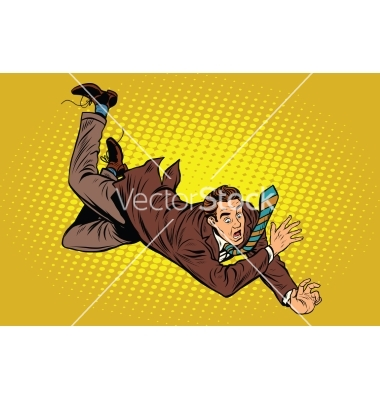 Man falls down from a height vector by studiostoks.