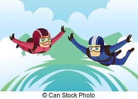 Fallschirmspringen Illustrationen und Clip Art. 1.747.