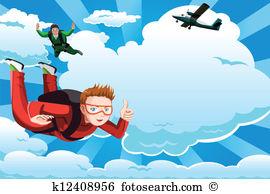 Fallschirmspringen Clip Art Lizenzfrei. 1.317 fallschirmspringen.