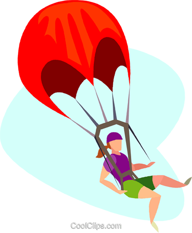 Fallschirmspringen Vektor Clipart Bild.