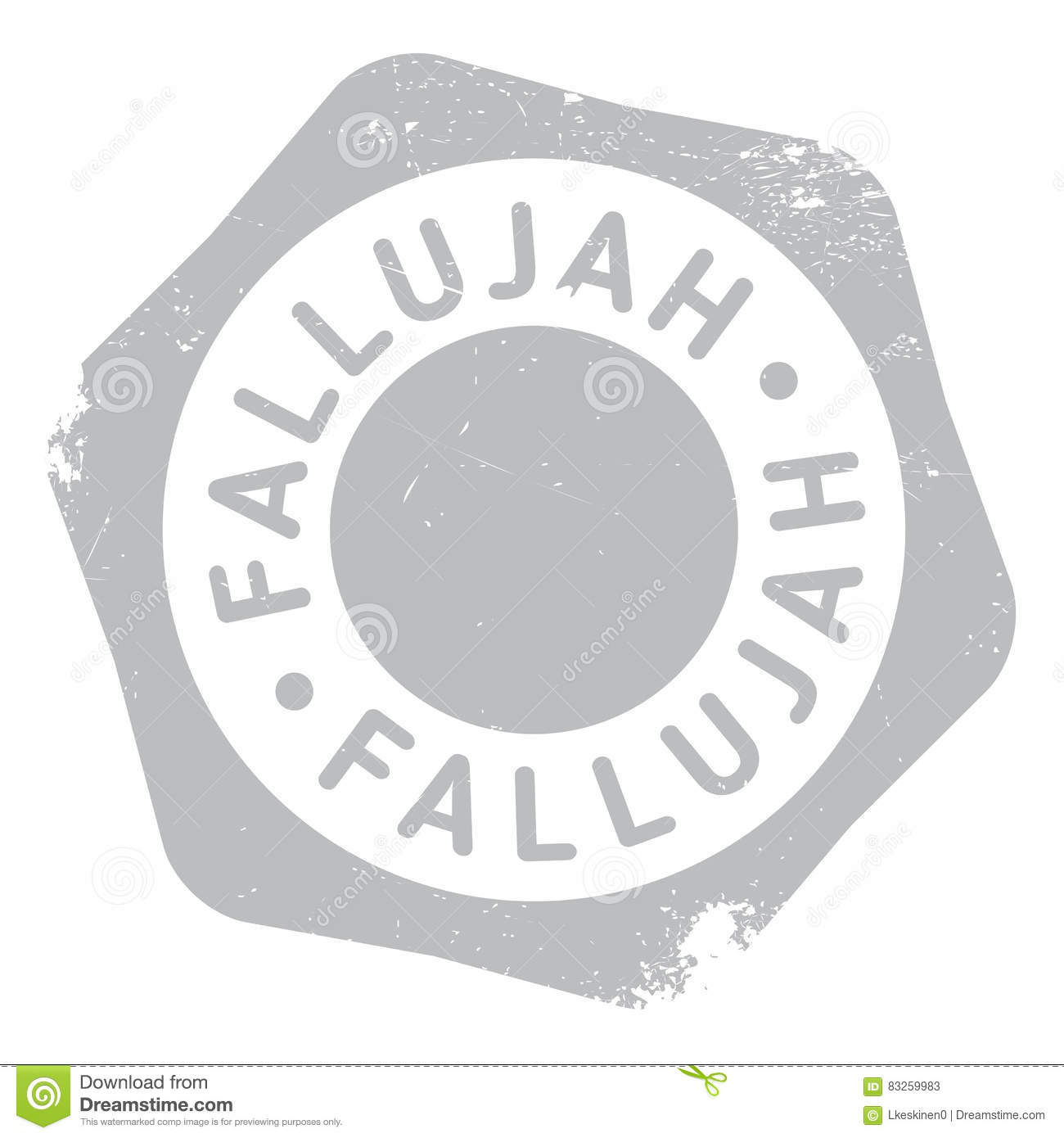 Fallujah Stamp Rubber Grunge Stock Vector.