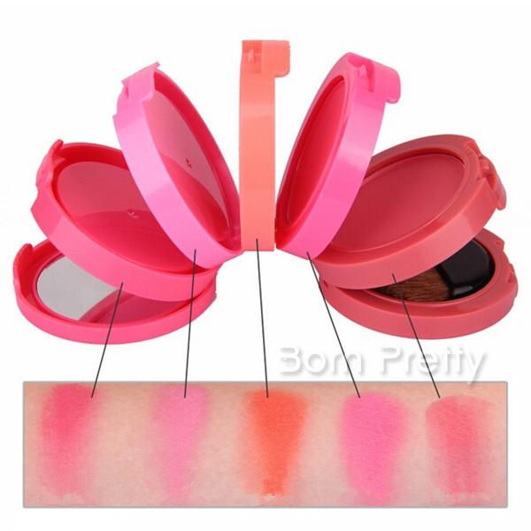 $9.99 5 Colors/set Blusher Set Pink Orange Round Makeup Blush.