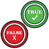 True False Clip Art.
