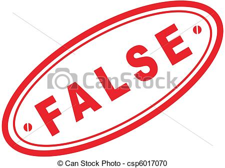 False Stamp Clipart.