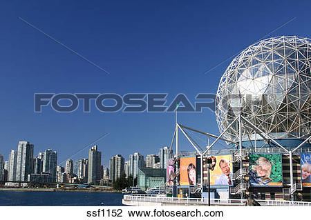Stock Photo of Vancouvers Science World and False Creek ssf1152.