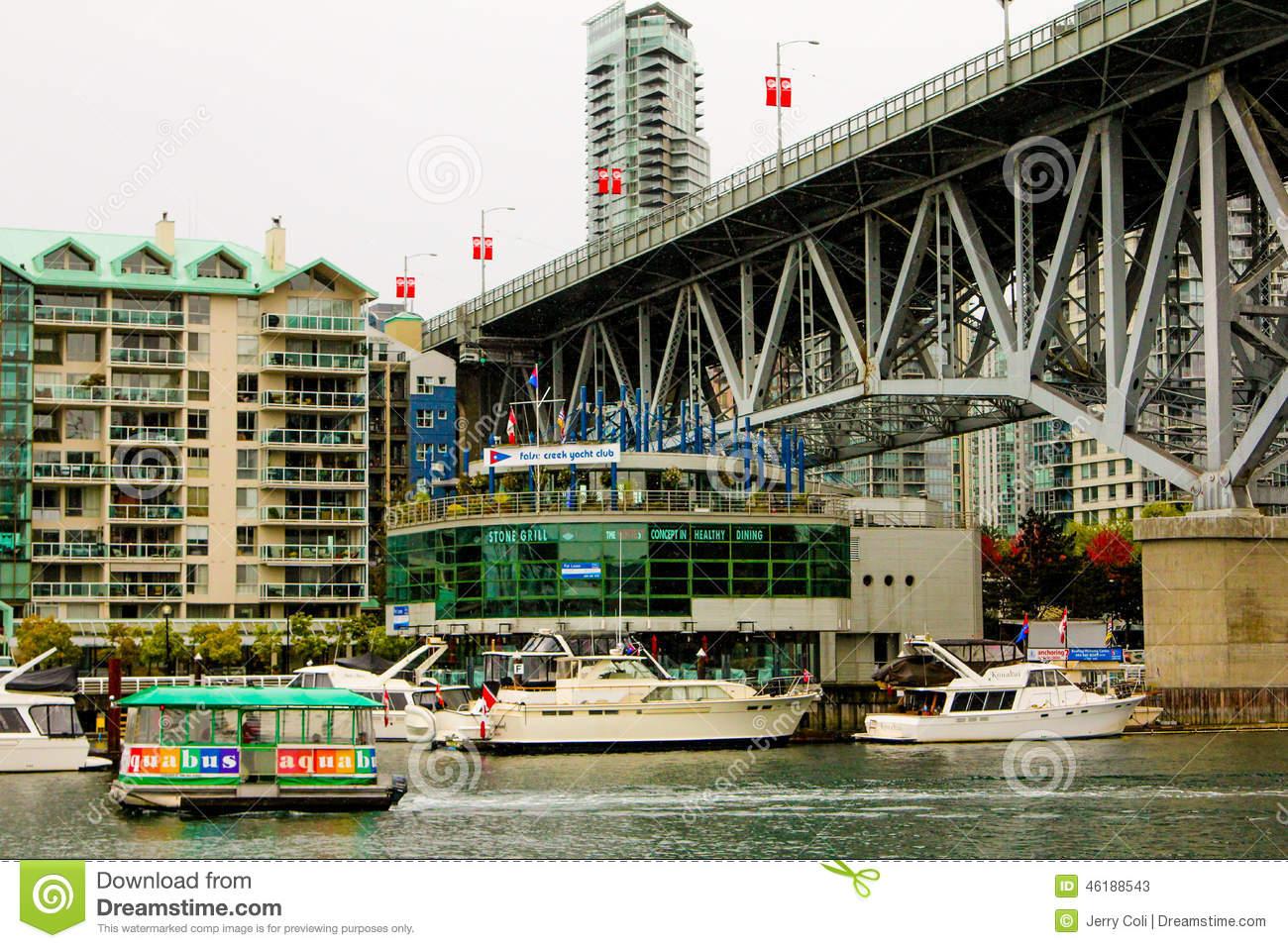 False Creek Yacht Club Editorial Stock Photo.