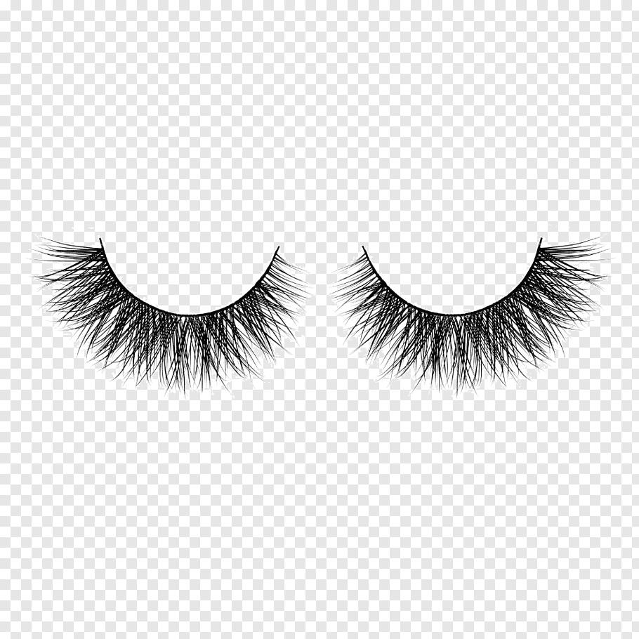 Two black false eyelashes, Cruelty.