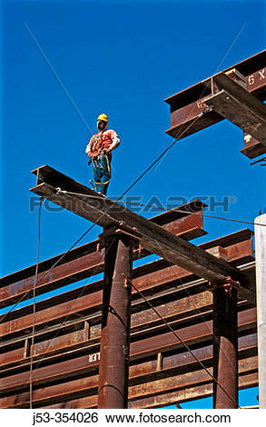 Stock Images of Piledriver on bridge falsework. I.