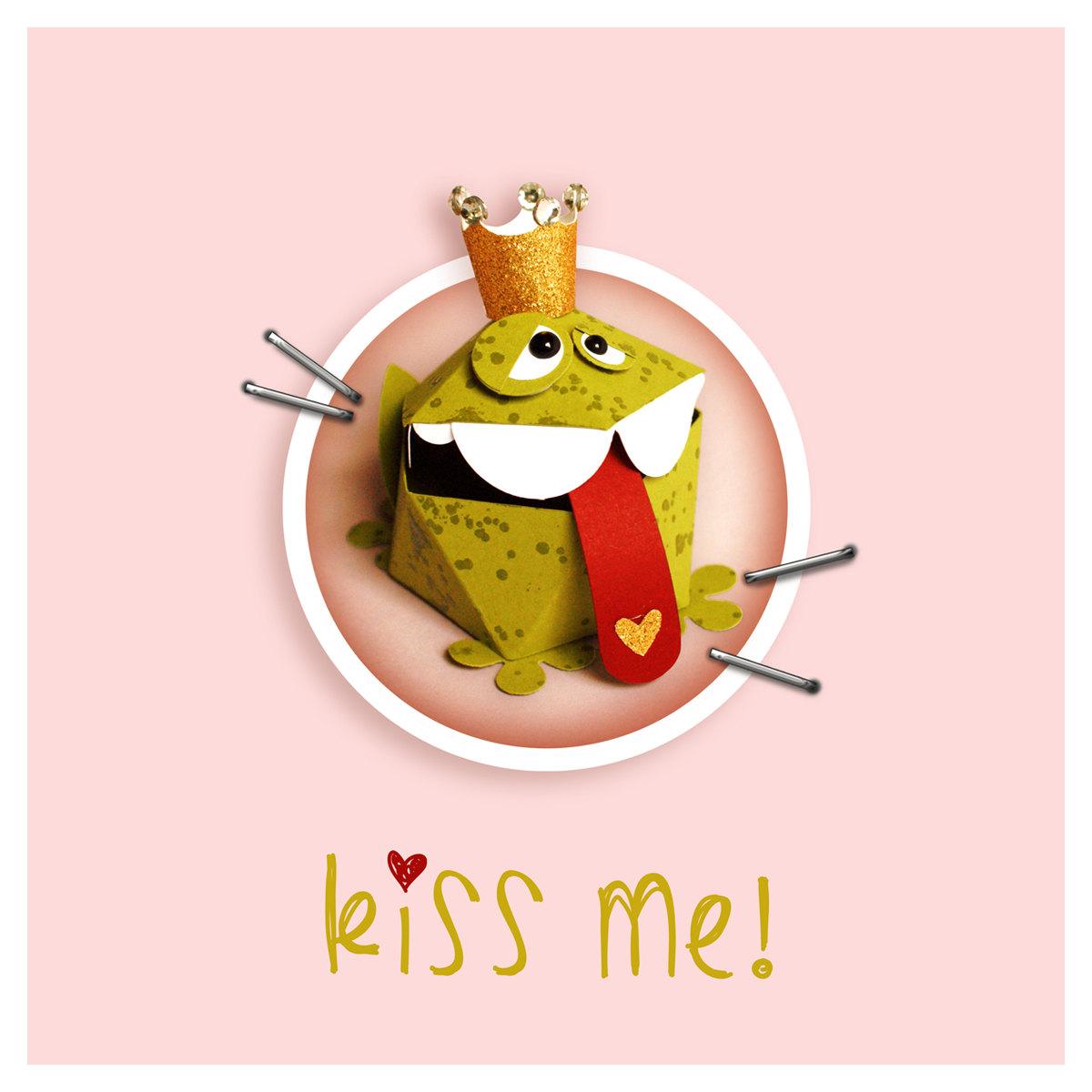 plotterdatei gift box frog king: v1 by goebie on Etsy.
