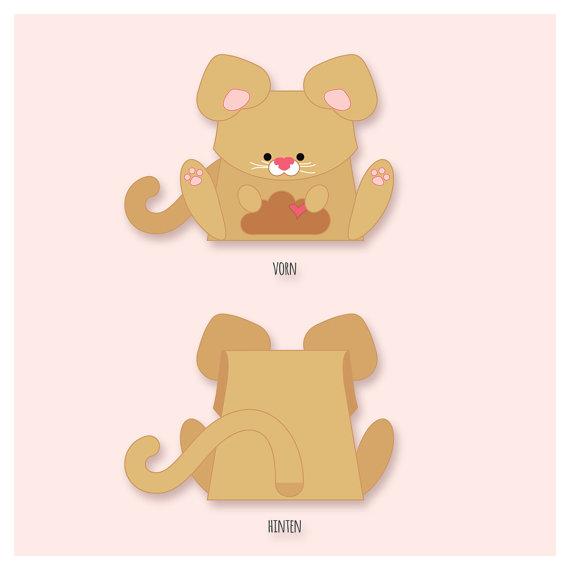 plotterdatei gift box little kitten by goebie on Etsy.