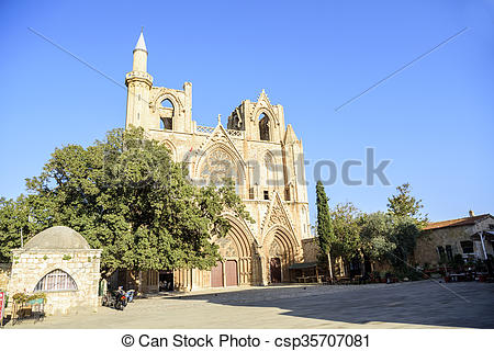 Pictures of Lala Mustafa Pasha Mosque in Famagusta, Cyprus.
