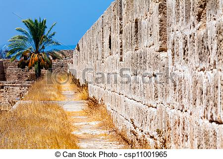 Stock Image of Walls of Famagusta fortress, Cyprus.
