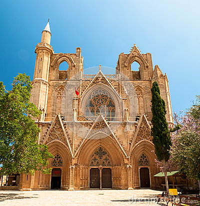 St. Nicholas Cathedral. Famagusta, Cyprus Stock Photo.