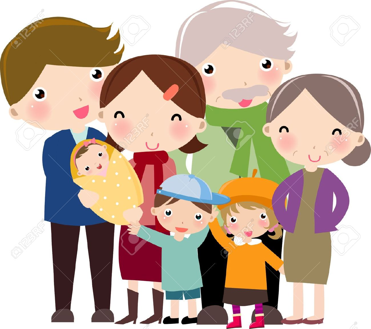 Clipart extended families.