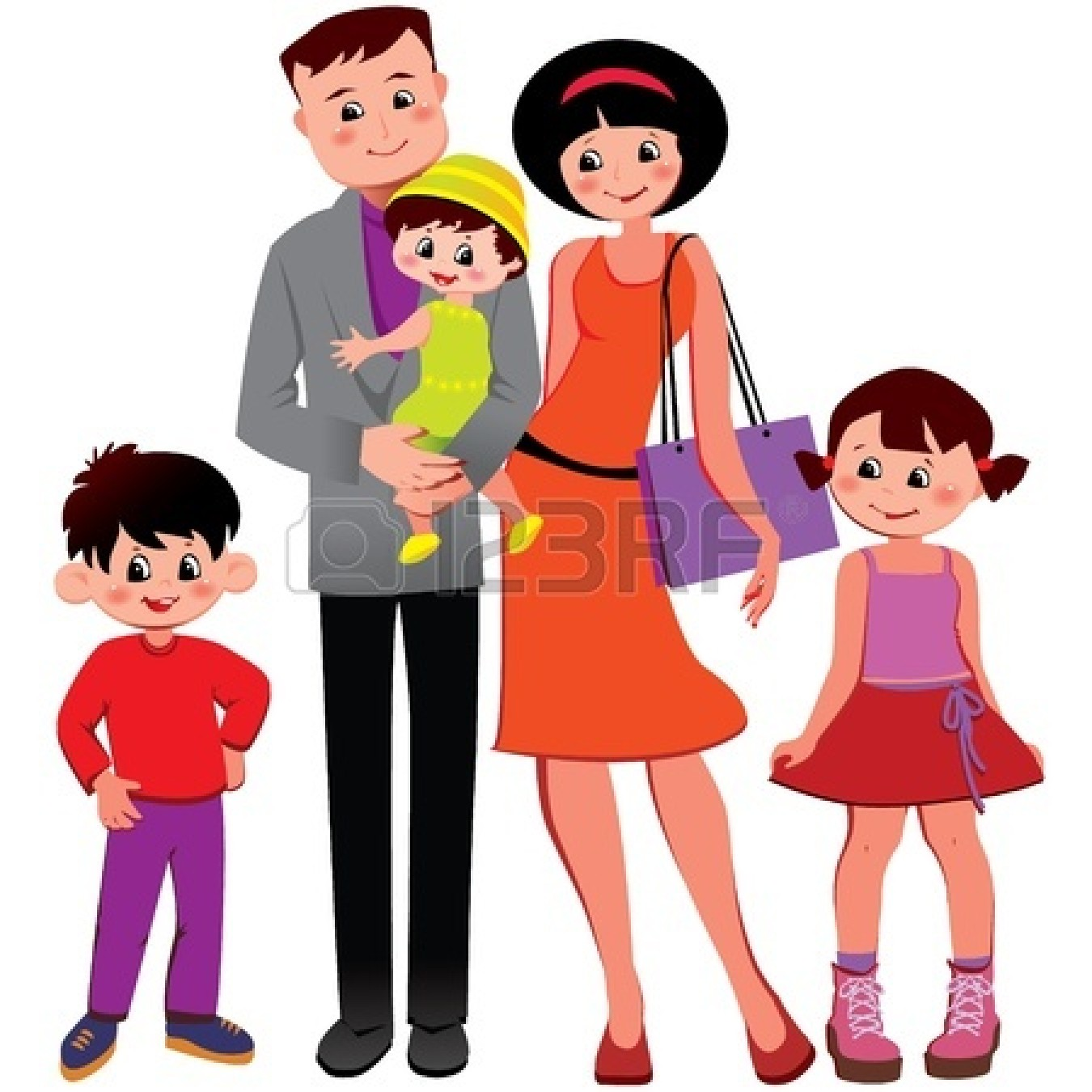 Many Families Clipart.