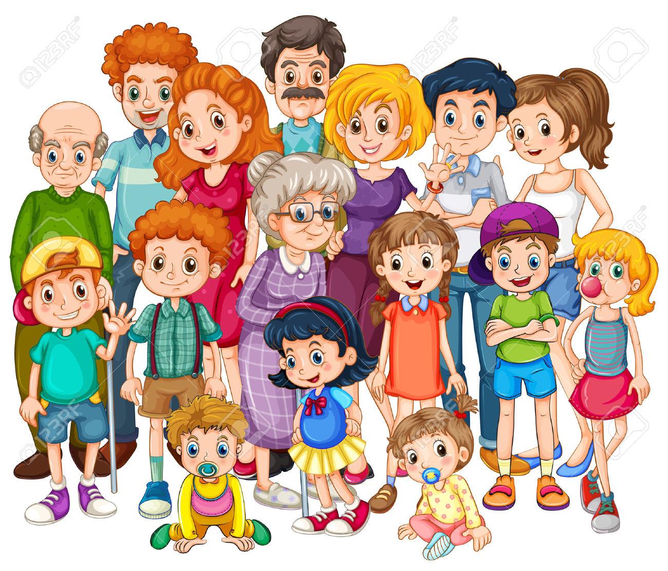 Familie Zeichentrick