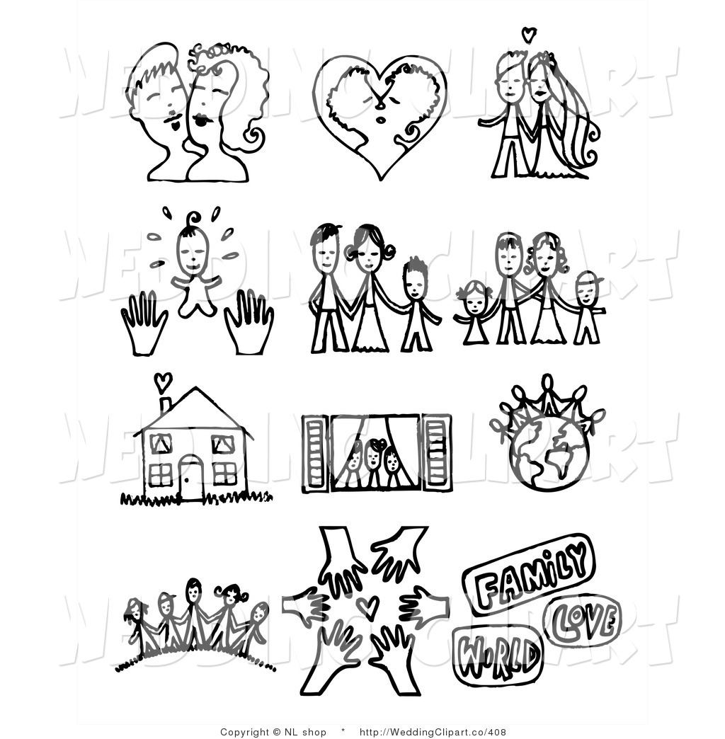 Family And Friends Clipart Black And White.