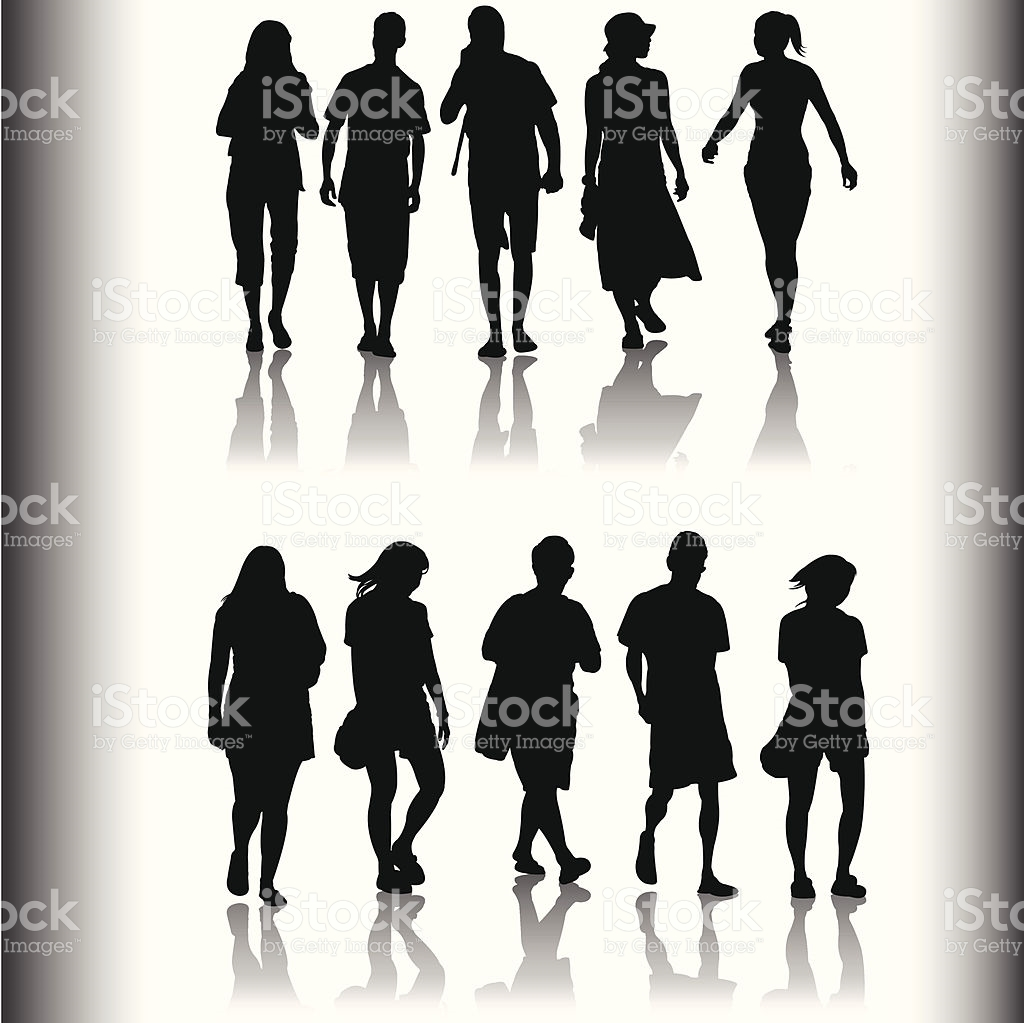 Family And Friends Shadow Series stock vector art 165078326.