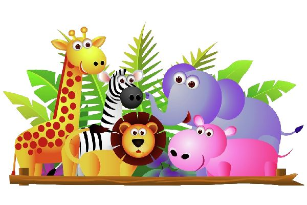 Free animal family clipart.