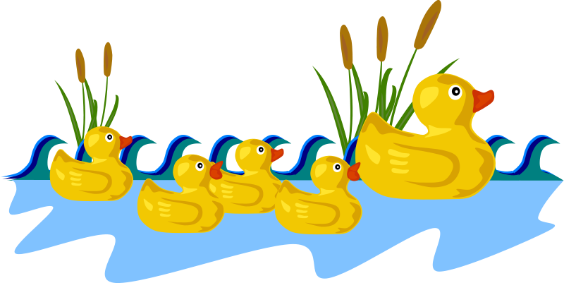Free Clipart: Rubber Duck Family.