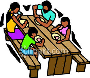 Family At Table Free Clipart.
