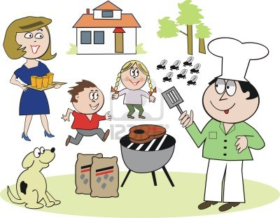 Family Bbq Clipart Group with 75+ items.