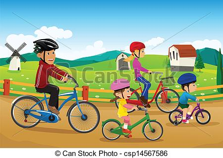Family bicycle Vector Clipart Royalty Free. 1,770 Family bicycle.