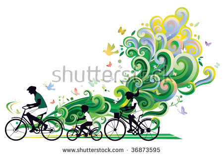 Family Bicycle Stock Vectors, Images & Vector Art.