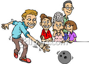 Bowling clipart family bowling, Bowling family bowling.
