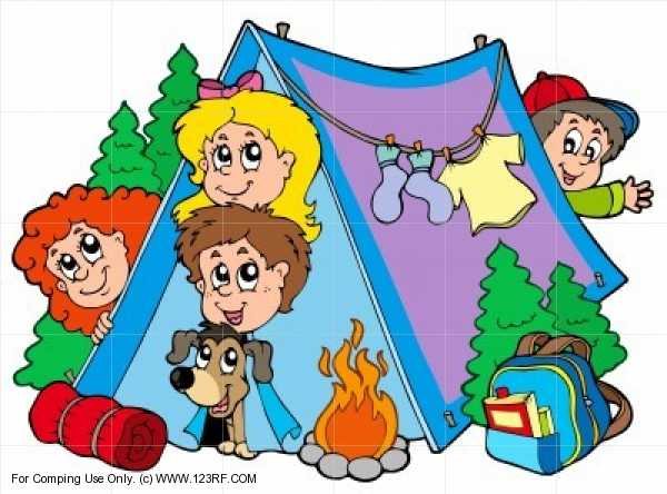 Family Camping Clipart.