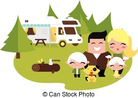 Family camping Vector Clipart Royalty Free. 1,603 Family camping.