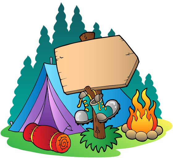 Family camping free clipart.