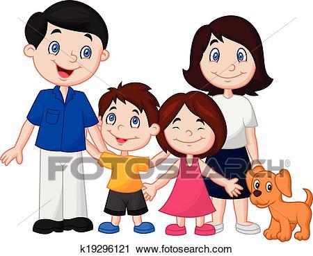 Happy family cartoon Clipart.