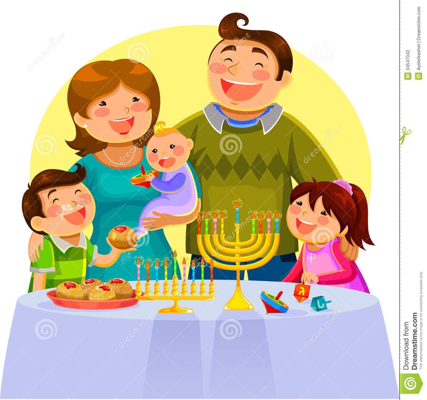 Hanukkah Celebration Clipart.